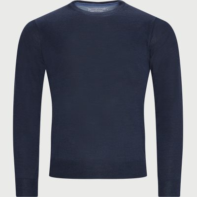 Lipan Merino Striktrøje Regular | Lipan Merino Striktrøje | Blå
